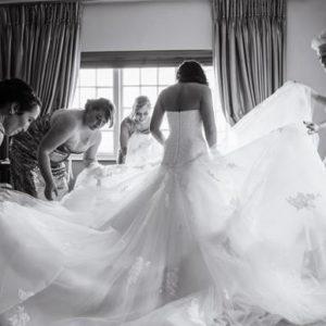 Dramatic Vonvé Bridal Gown
