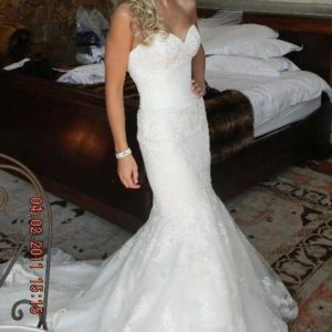 Enzoani lace wedding dress