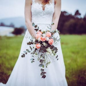 A-Line Ballgown with lace bodice
