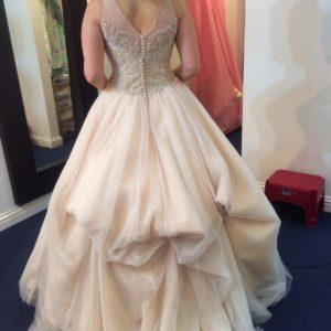 Crystal Embroidered Ballroom style Wedding Dress