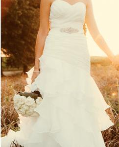 Pure white A line dress