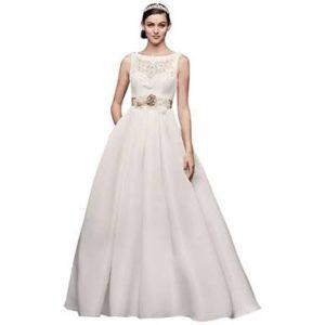 Modern open back wedding gown