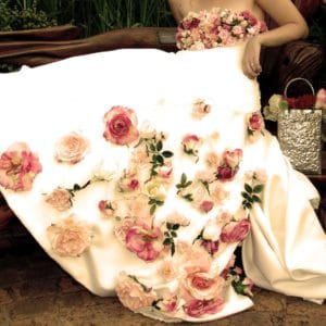 Floral dream wedding dress